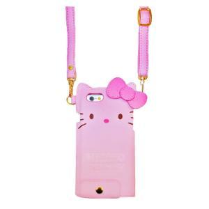 iPhone6/6s ハローキティ ダイカットレザーケース (ピンク) tl-star