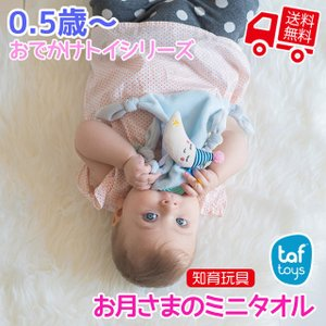 知育玩具 Taftoys お月さまのミニタオル  0.5歳から 誕生日プレゼント ギフト用 学習 教育玩具 [ギフトラッピング可]|tl-star