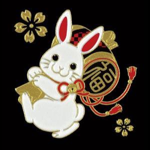 蒔絵シール -招福十二支蒔絵 卯(うさぎ) tl-star