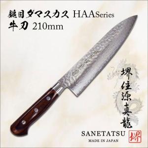 源真龍 HAAシリーズ 鎚目ダマスカス 牛刀 210mm|tl-star