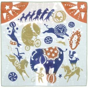 kenema 注染ハンカチ 動物たちのサーカス EAWASE 手拭い 日本手拭い 和柄 コットン 日本製|tl-star