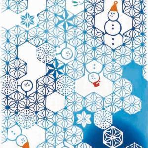 kenema 注染手ぬぐい 麻雪だるま クリスマス 手拭い 日本手拭い 和柄 コットン 日本製|tl-star