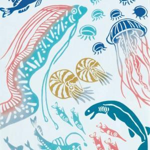kenema 注染手ぬぐい 深海魚 生き物 手拭い 日本手拭い 和柄 コットン 日本製|tl-star