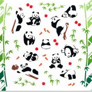 kenema 注染手ぬぐい 生き物  パンダ日和 手拭い 日本手拭い 和柄 コットン 日本製|tl-star