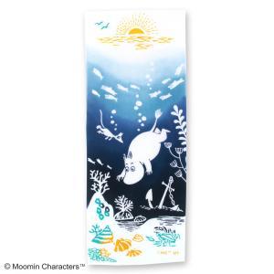 ムーミン注染手ぬぐい 海の冒険 MOOMIN 手拭い 日本手拭い 和柄 コットン 日本製 tl-star