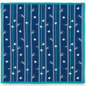 おかみさんの小風呂敷 縞千鳥 ミヤコレ 一三巾(いちさんはば) 50cm巾 手捻染 お弁当包み ランチョンマット|tl-star