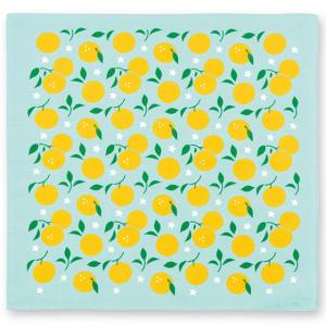 おかみさんの小風呂敷 柚子 ミヤコレ 一三巾(いちさんはば) 50cm巾 手捻染 お弁当包み ランチョンマット|tl-star