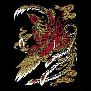 蒔絵シール -守護神獣絵巻 「朱雀」 tl-star