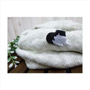 猫刺繍(ねこししゅう)-ブローチ&ステッカー ねこ刺繍ブローチピン スコティッシュフォールド|tl-star