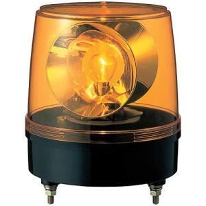 パトライト 大型回転灯 KG-100-Y Φ186 大型2面反射鏡 黄色|tlinemarketing