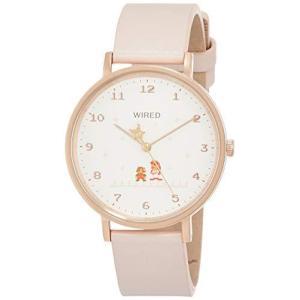 [セイコーウォッチ] 腕時計 ワイアード スーパーマリオブラザーズ限定 限定1200本 ピンク文字盤 ピンクカーフバンド AGAK707 メンズ ピン|tlinemarketing