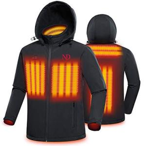 ND 電熱ジャケット 電熱ベスト ヒーターコート ヒーターベスト 前後独立温度設定 3段温度調整 電熱服 防寒ベスト 充電式ヒート バッテリー給電 4|tlinemarketing