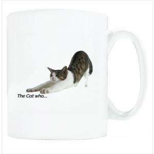 送料無料 マグカップ (ライト) The Cat who.... のびジェリー ( 直径8×高さ9.2cm ザ・キャットフー タレネコ 名入れ可能 Art MugCup Cats)|tm1