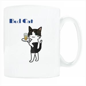 送料無料 マグカップ (ライト) The Cat who.... バドジェリー ( 直径8×高さ9.2cm ザ・キャットフー 名入れ可能 イラスト Art MugCup Cats)|tm1
