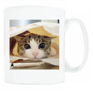 送料無料 マグカップ (ライト) The Cat who.... たれジェリー ( 直径8×高さ9.2cm ザ・キャットフー タレネコ 名入れ Art MugCup Cats)|tm1
