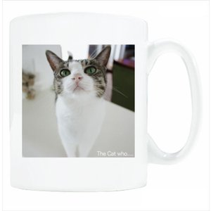 送料無料 マグカップ (ライト) The Cat who.... 生意気ジェリー( 直径8×高さ9.2cm ザ・キャットフー 猫 ねこ ネコ 名入れ可能 Art MugCup Cats)|tm1