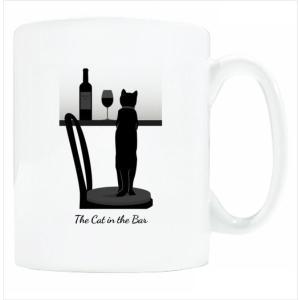 送料無料 マグカップ (ライト) The Cat who.... The Cat in the Bar ( 直径8×高さ9.2cm ザ・キャットフー 猫 ねこ ネコ 名入れ可能 Art MugCup Cats)|tm1