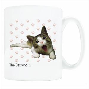 送料無料 マグカップ (ライト) The Cat who.... ふぁわわ仔猫 ( 直径8×高さ9.2cm ザ・キャットフー写真 名入れ可能 Art MugCup Cats)|tm1
