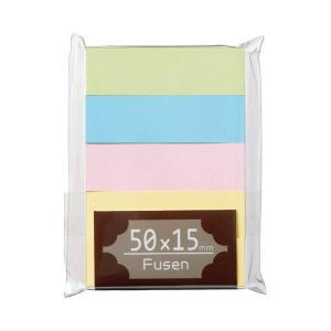 (まとめ) TANOSEE ふせん 50×15mm パステルアソート 1パック(5冊) (×30セッ...