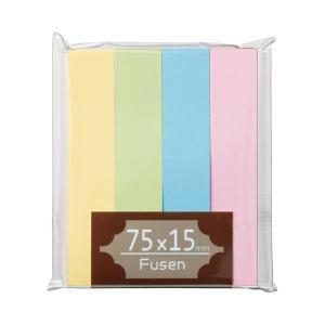 (まとめ) TANOSEE ふせん 75×15mm パステルアソート 1パック(4冊) (×30セッ...