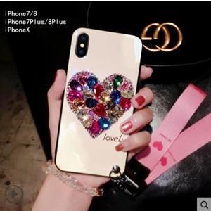 iPhone8ケース iPhoneXカバー iPhone7ケース iPhone7plus/8plusケース 携帯ケース アイフォン8ケース スマホケース カバー ビジュー付き 送料無料|tman