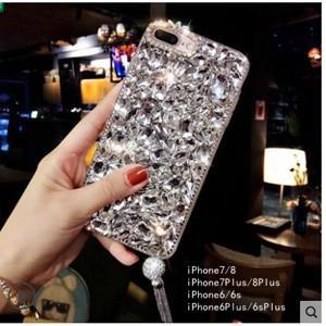 iPhone8ケース  iPhone7ケース iPhone7plus/8plusケース 携帯ケース アイフォン8ケース スマホケース カバー ビジュー付き 送料無料|tman