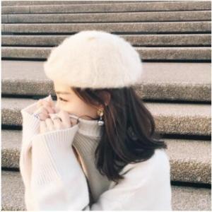 ベレー帽 帽子 レディース フェルト ぼうし 小顔効果 ふわふわ  あったか 暖かい 防寒 可愛い カジュアル アウトドア 秋物 冬物 2018 新作 送料無料|tman