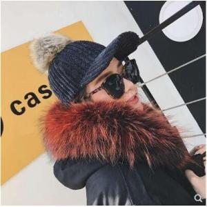 キャスケット ニット帽子 帽子 レディース キャップ 調整可能 ぼうし ポンポン付き 小顔効果 厚手 あったか 暖かい 防寒 アウトドア 秋物 冬物 2018 新作|tman