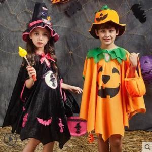 ハロウィン 衣装 子供 女の子 男の子 キッズ 仮装 子供服 悪魔 小悪魔 巫女 カボチャマント 南瓜 ハロウィーン Halloween コスプレ コスチューム 人気 送料無料|tman