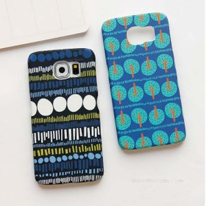 Samsung Galaxy S6Edgeケース サムサン ギャラクシーS6エッジケース GALAXY S6カバー Galaxy S6ケース 可愛い 森/星 彩色上絵 マット感|tman