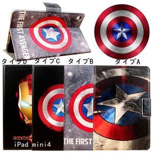 キャプテンアメリカ Captain America iPad mini4 ケース カバー アイパッドmini4 人気アイパッドケース カバー レザーケース 可愛い 新作 送料無料|tman