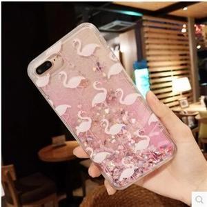 iPhone6/6sケース iPhone6Plus/6sPlusケース iPhone7/7Plusケース フラミンゴ 流砂 キラキラ 耐衝撃 携帯ケース スマホケース 送料無料|tman