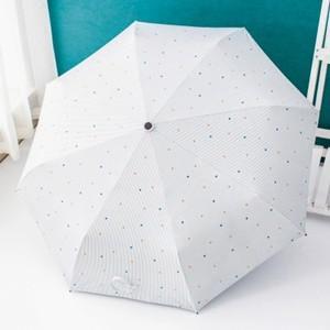 折りたたみ傘 晴雨兼用 男女兼用 レディース 100% 完全遮光 日傘 遮光 UVカット 紫外線 対策 折り畳み 雨傘 撥水 遮熱 軽量 送料無料|tman|03