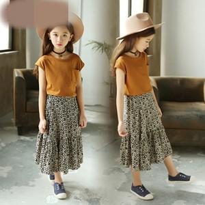 子ども服 子供服 2点セット 女の子 半袖Tシャツ+ロングスカート キッズ スカートセットアップ 上下セット 花柄 可愛い オシャレ 夏物 新作 送料無料|tman