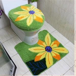 洗浄暖房型 トイレマット/フタカバー/便座カバー 3点セット 絨毯 トイレマット  滑り止め 送料無料|tman