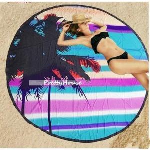 ウンドビーチタオル 円形 ビーチマット ラウンドタオル ビーチ 海 海外セレブ ビーチタオル プール プールパーティー ビーチ 海 ラウンドビーチマット|tman