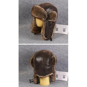 毛皮帽子 パイロット帽子 ファー パイロットキャップ 飛行帽 フェイクレザー 2way 帽子 耳あて ロシア帽 あったかい アウトドア 防寒 メンズ レディース 冬新作|tman|04