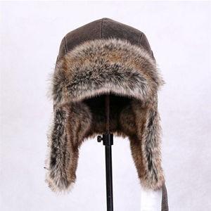 毛皮帽子 パイロット帽子 ファー パイロットキャップ 飛行帽 フェイクレザー 帽子 耳あて ロシア帽 あったかい アウトドア メンズ レディース 防寒 冬新作|tman