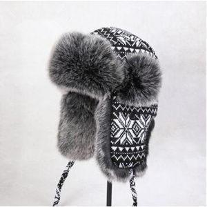 ロシアン帽子 マッドボンバーハット ファー スキー帽子 ニット帽 防寒用 ボンバーハット パイロットキャップ ボンバーハット キャップ 男女兼用 冬物|tman