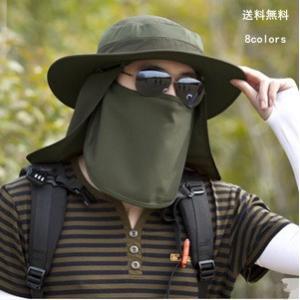 帽子 UVカット つば広ハット メンズ サンバイザー 紫外線対策用 折畳み可 調節可能 3way 取外し可 農作業 日よけ 釣り アvΕ去??日よけ 登山 春夏 新作 tman