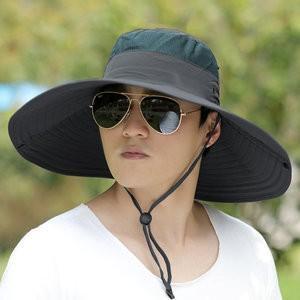 帽子 UVカットメンズ つば広ハット キャップ 紫外線対策用 サンバイザー UVカット帽子 日よけ 釣り 登山 農作業  2018 春夏 新作 tman 送料無料|tman