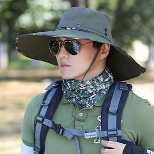 つば広サンバイザー メンズ 帽子 サンバイザー ハット 色切替 通気性 日よけ帽子 登山 釣り アウトドア 農作業 2018 夏 夏物 新作 送料無料|tman