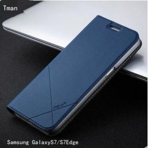 Samsung Galaxy S7Edgeカバー サムサン ギャラクシーS7エッジケース Galaxy S7ケース ギャラクシーS7カバー レザー製 携帯ケース|tman