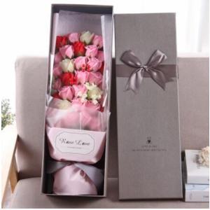 バレンタイン 花 造花 ソープフラワー フラワーソープ プレゼント ブーケ ホワイトデー ギフト 誕生日 石鹸 送料無料|tman
