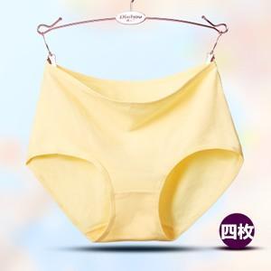 4点セット ショーツ レディース ノーライン ハイウエスト パンツ 女性用 下着 大きいサイズ インナー 4枚組 伸縮性 送料無料|tman