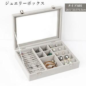 アクセサリーケース ジュエリーボックス 収納 ボックス ポーチ ミラー付き 鏡 大容量 ネックレス 指輪 ピアス プレゼント 雑貨 小物 送料無料|tman