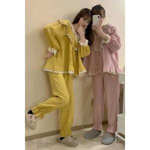 パジャマ セットアップ ルームウェア レディース 上下セット 部屋着 寝巻き 長袖+ロングパンツ 半袖+ショートパンツ 水玉柄 可愛い ゆったり 春夏 新作 2020|tman