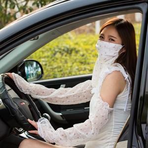 2点セット アームカバー+マスク フェイスカバー ネックカバー UVカット 手袋 日焼け対策 アウトドア 日焼け止め 紫外線防止 通気性 送料無料|tman