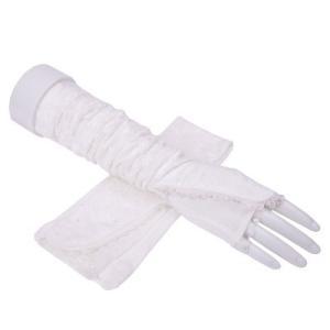 手袋 UV手袋  UVカット 涼しい アームカバー 指なし レース手袋 手ぶくろ ロング手袋 日焼け対策 アウトドア 日焼け止め 紫外線防止 通気性 薄手 夏|tman|06