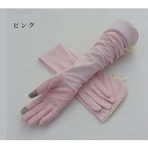 手袋 UV手袋  UVカット 涼しい アームカバー 手ぶくろ ロング手袋 日焼け対策 スマホ手袋 アウトドア 冷感 日焼け止め 紫外線防止 通気性 薄手 夏|tman|04